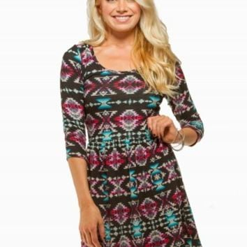 BEBOP AZTEC SKATER DRESS