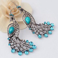 Elegant Peacock Statement Earrings  | LilyFair Jewelry