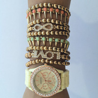 Golden Gypsy Watch Set from shopoceansoul