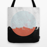 Landscape Abstract Tote Bag by Mareike Böhmer Graphics