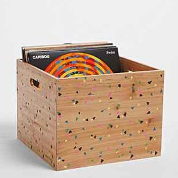 Plum   Bow Confetti Wood Storage Crate  Urban Outfitters
