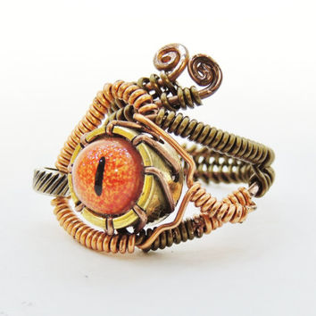 Steampunk Ring Steampunk ring for men steampunk wire ring