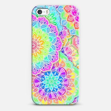 Neon Floral Mandala Design iPhone 5s case by Micklyn Le Feuvre | Casetify