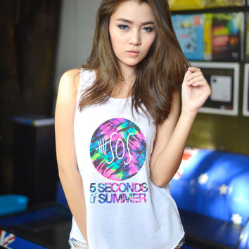 5sos Tank Top T Shirt 5 Seconds of Summer T-Shirt Women Clothing Size S M L