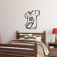 Wall Decal Football Jersey with Personalized Number Boys Room Decor 22453