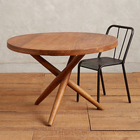 Elliptic Dining Table by Anthropologie Brown One Size Furniture