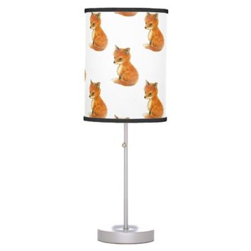 Baby Fox Vintage Table Lamp