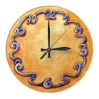 spring round wallclock from Zazzle.com
