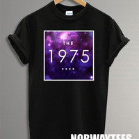 New The 1975 Band Shirt The Galaxy Symbol Printed on Black and White t-Shirt For Men or Women Size TS 67