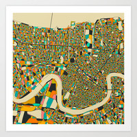 NEW ORLEANS MAP Art Print by Jazzberry Blue
