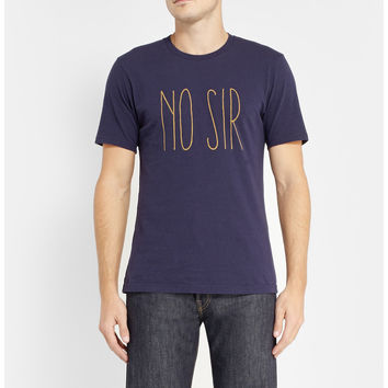 Undercover  No Sir Printed Cotton-Jersey T-Shirt  MR PORTER