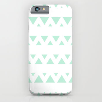 Tribal Triangles Mint Green iPhone & iPod Case by BeautifulHomes