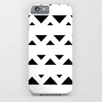 Tribal Triangles Black & White iPhone & iPod Case by BeautifulHomes