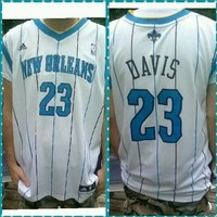 New Orleans Hornets Anthony Davis Jersey size L Pelicans NBA Team USA Basketball