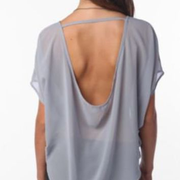 Sparkle & Fade Low-Back Chiffon Blouse