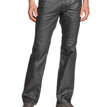 GUESS Lincoln Coated Slim Straight Jeans