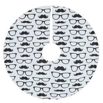 Hipster Mustache and Glasses Dot Pattern