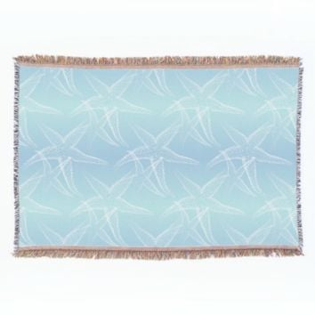 Starfish Blue Aqua Sea Throw Blanket