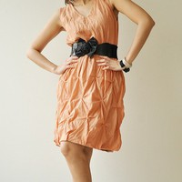 Hexagon Part IIOrangeBrown Cotton dress by aftershowershop