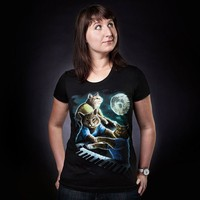 """Three Keyboard Cat Moon"" - Threadless.com - Best t-shirts in the world"