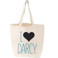 Pride & Prejudice I Heart Darcy Tote Bag (As Worn By Emma Watson) - Check Out All 10 Babylit Tote Styles!