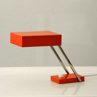 60s fancy red Vintage Table Lamp