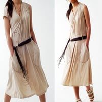 TEARs - asymmetrical jersey zen dress (Q1211)