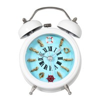 ZLYC 4-inch Retro Vintage Double Bell Bedside Non-Ticking Quartz Alarm Clock Blue 2