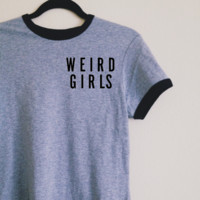 Claire Weird Girls Ringer Tee