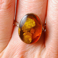 Vintage Baltic amber ring.  Size 6