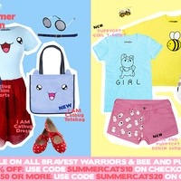 FEATURED: Catbug and PuppyCat Summer Fan Fashion!