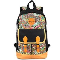 Canvas Bookbag Daypack Backpack Laptop Bag for School College Teens Girls Boys Students, Pattern B:Amazon:Computers & Accessories