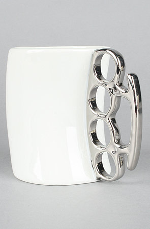 The Fisticup Brass Knuckles Mug
