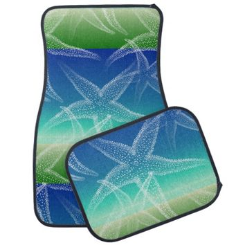 Starfish Blue Green Sea Car Mats