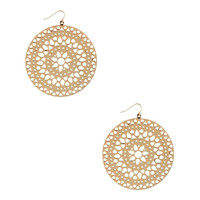 Cutout Circle Earrings