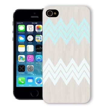 ChiChiC® Iphone Case, i phone 5 5s case, Iphone5 Iphone5s covers, plastic cases back cover skin protector,blue white wood grain