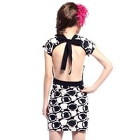 Personality Pattern Sexy Halter Dress - Fashion Destination|Thisfind.com
