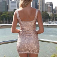 PRE ORDER - SEQUIN ROSE GOLD DRESS (Expected Delivery 10th October, 2014) , DRESSES, TOPS, BOTTOMS, JACKETS & JUMPERS, ACCESSORIES, 50% OFF SALE, PRE ORDER, NEW ARRIVALS, PLAYSUIT, GIFT VOUCHER,,Gold Australia, Queensland, Brisbane