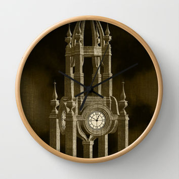 The Clock Tower Wall Clock by Texnotropio