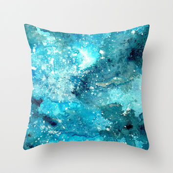 Galaxy  Throw Pillow by rskinner1122