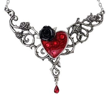 """""""Blood Rose Heart"""" Necklace by Alchemy of England"""