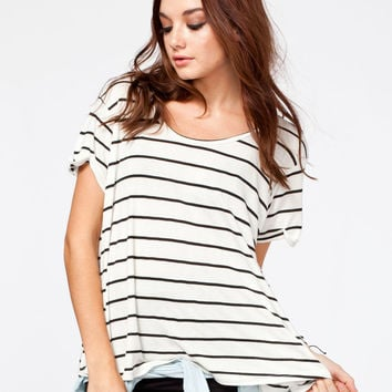Volcom Lived In Rib Womens Tee Cream  In Sizes