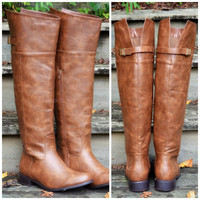 SZ 5.5 Keep Walking Tan Riding Boots