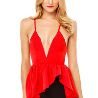 Angel Biba Deep Down Top in Tomato Red