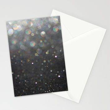 There Can Be No Light (Ombré Glitter Abstract) Stationery Cards by soaring anchor designs ⚓ | Society6