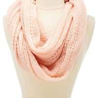 Solid Open Knit Infinity Scarf by Charlotte Russe
