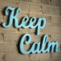 KEEP CALM recycledwood sign by WilliamDohman on Etsy