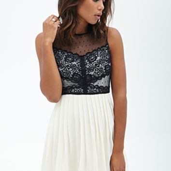 Lacy Accordion Pleated Dress