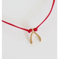 Red Wishbone Bracelet