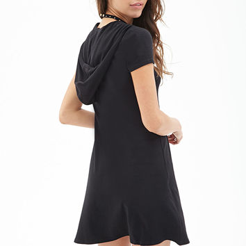 FOREVER 21 Hooded Jersey Shift Dress